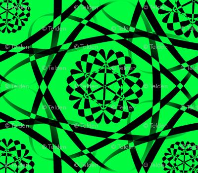 Ribbon Mania - Green and Black - Small