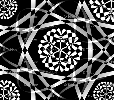 Ribbon Mania - Black and White - Ditsy Tiny