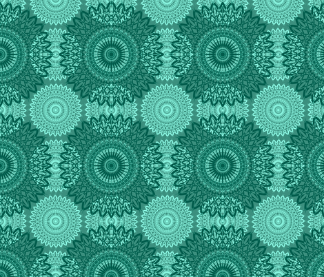Grandma Neo - Green fabric by telden on Spoonflower - custom fabric