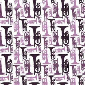 Purple Mellophones