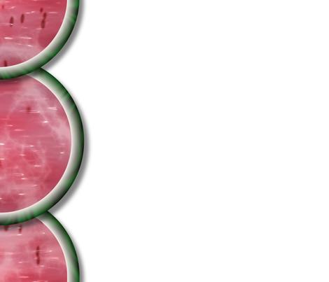 Watermelon Mania - Single Melon - Border fabric by bonnie_phantasm on Spoonflower - custom fabric