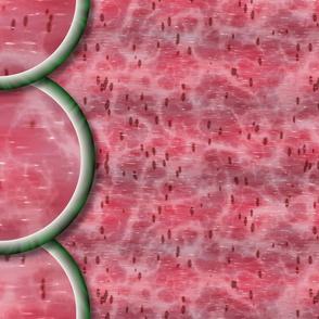 Watermelon Mania - Single Melon - Pink Flesh - Border