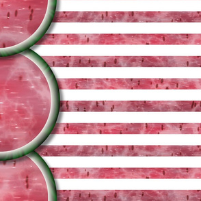 Watermelon Mania - Single Melon - Simple Stripe - Border