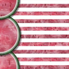 Watermelon Mania - Single Melon - Simple Stripe - Border