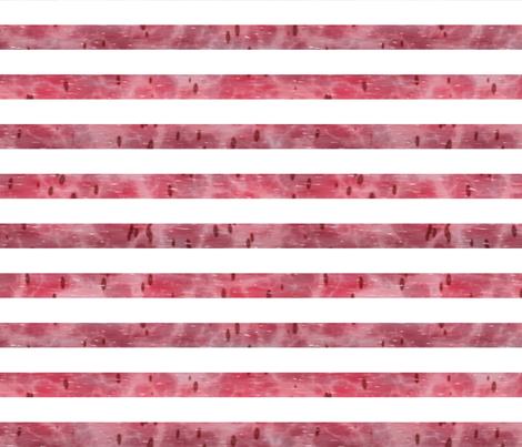 Watermelon Mania - Simple Stripe fabric by bonnie_phantasm on Spoonflower - custom fabric