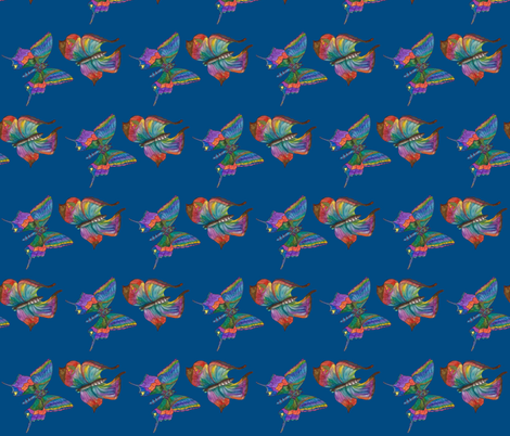 Just us Too ~ Blue fabric by aftermyart on Spoonflower - custom fabric