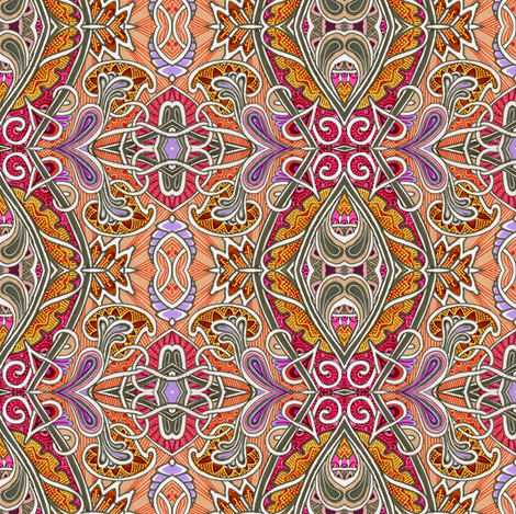 Jacobian Zig Zag vertical stripe  fabric by edsel2084 on Spoonflower - custom fabric