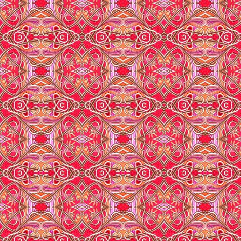 Spadeflowers on Fire (a bright diamond patchwork) fabric by edsel2084 on Spoonflower - custom fabric