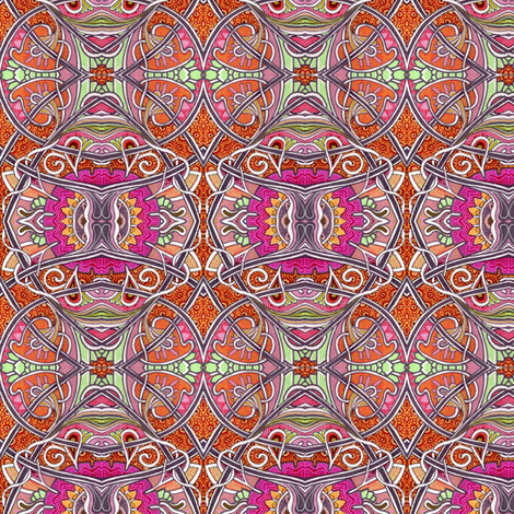 Tangled Tendrils (an orange, paisley, and spade abstract) fabric by edsel2084 on Spoonflower - custom fabric