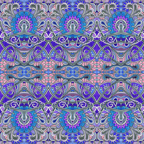 Zig Zag Scallop Chrysanthemum Paisley Psychedelic Stripe fabric by edsel2084 on Spoonflower - custom fabric