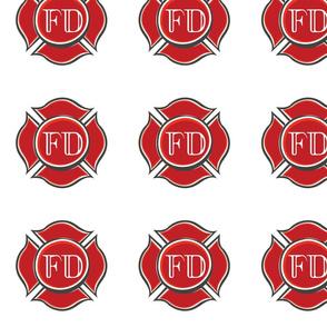 Red Firefighter Emblem
