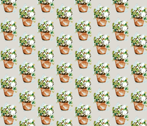 Petunia Garden fabric by karenharveycox on Spoonflower - custom fabric