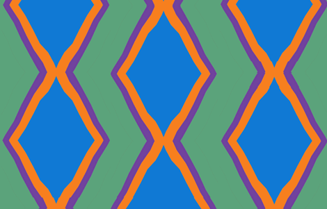 Blue Diamonds along the Nile fabric by susaninparis on Spoonflower - custom fabric