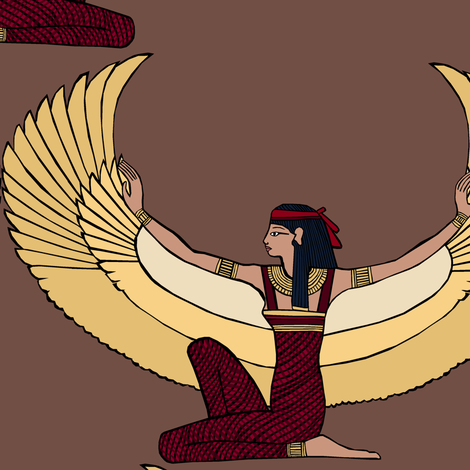 Winged Isis fabric by pond_ripple on Spoonflower - custom fabric