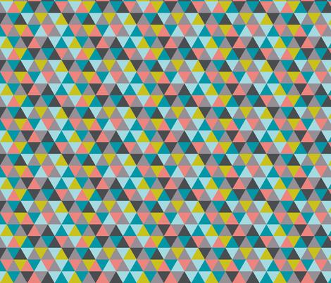 triangles multi fabric by katarina on Spoonflower - custom fabric