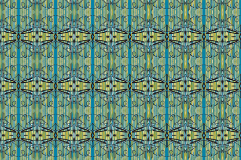 Symphony of Tagging in Teal, Ochre, Black and White, variation fabric by susaninparis on Spoonflower - custom fabric