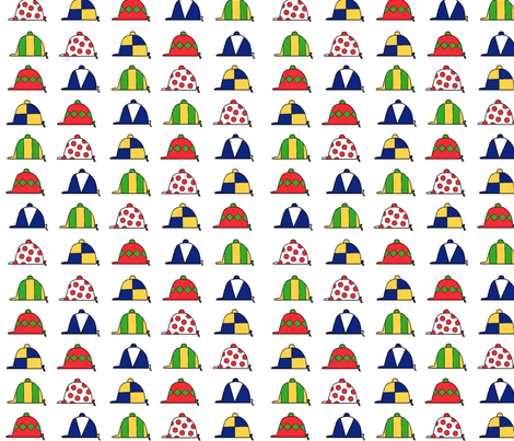 coloredcapswhite fabric by ragan on Spoonflower - custom fabric