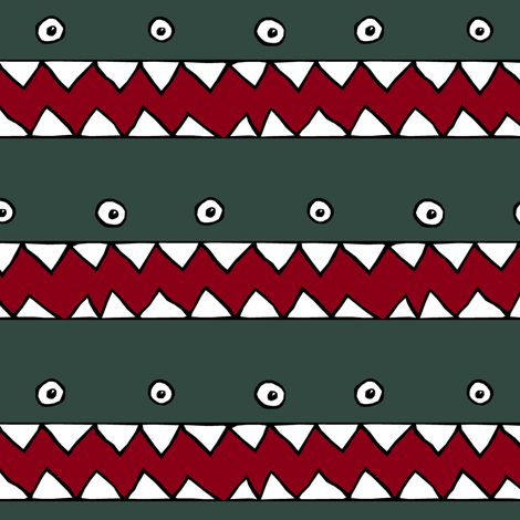 Endless Monster Stripe fabric by pond_ripple on Spoonflower - custom fabric