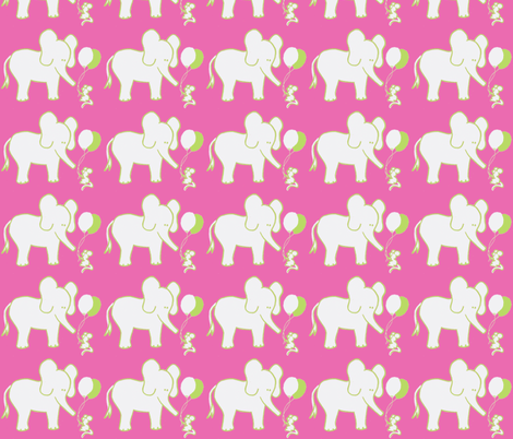 LARGE SCALE Lets Be Friends Hot Pink and Green fabric by kbexquisites on Spoonflower - custom fabric