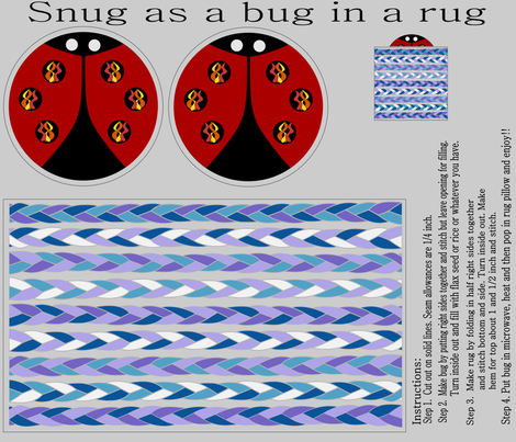 Snuggle Bug fabric by loopy_canadian on Spoonflower - custom fabric