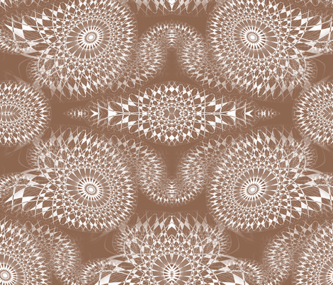 Fairy Ornamental - Tan fabric by telden on Spoonflower - custom fabric