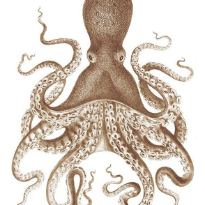 Octopus Oasis in Sepia