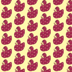 Pink Polkadot Duckie