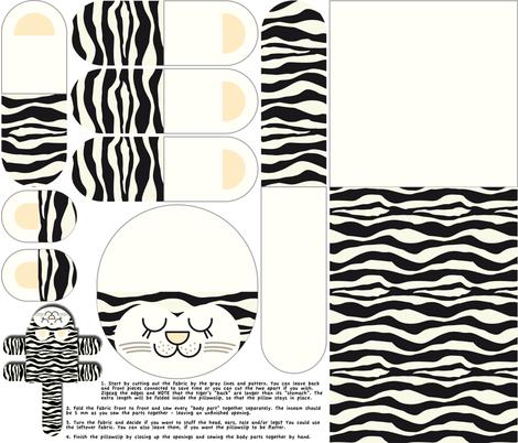 Siberian Tiger Pillow Slip fabric by snigne on Spoonflower - custom fabric