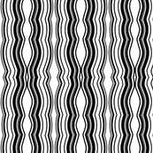 Zoom Wavy Stripes Vertical - Black and White - Medium