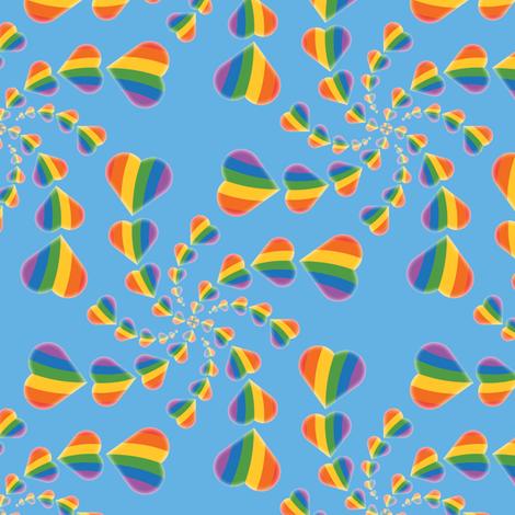 Rainbow Heart Swirl fabric by jjtrends on Spoonflower - custom fabric