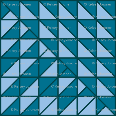 Blue Quilted