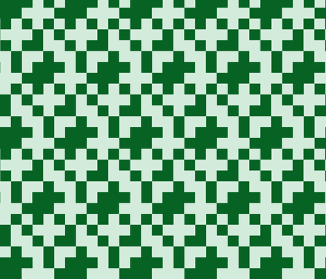 Green Pixel fabric by kelsey_joronen on Spoonflower - custom fabric