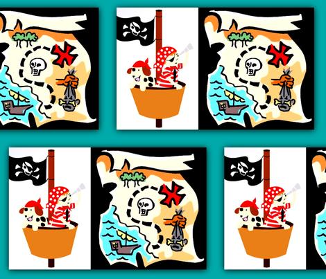 Treasure map fabric by nascustomlife on Spoonflower - custom fabric