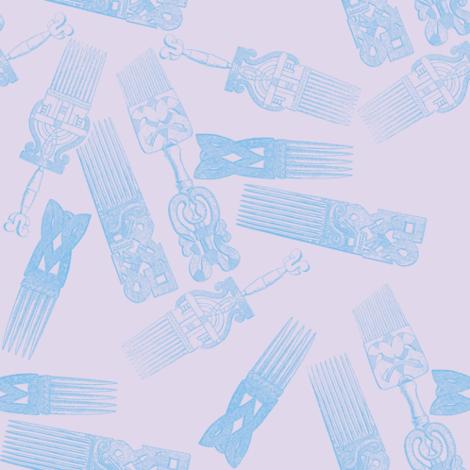 afro picks 7 fabric by nalo_hopkinson on Spoonflower - custom fabric