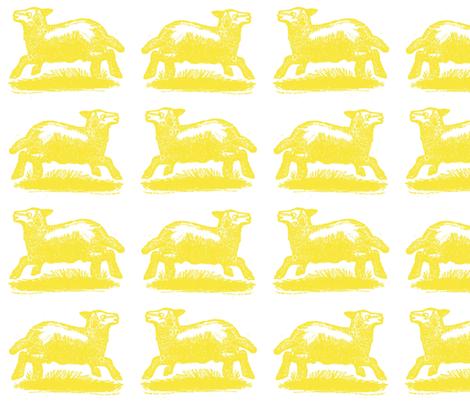sunny_lambs fabric by danibrighton on Spoonflower - custom fabric