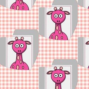 Pink Boo baby giraffe