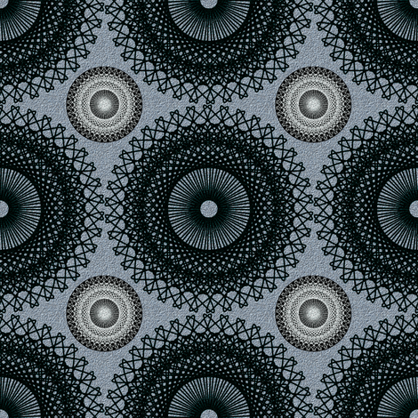 Ornate Circles - Dark Neutral fabric by telden on Spoonflower - custom fabric