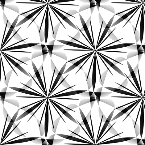 Twinkles - Black and White - Medium fabric by telden on Spoonflower - custom fabric