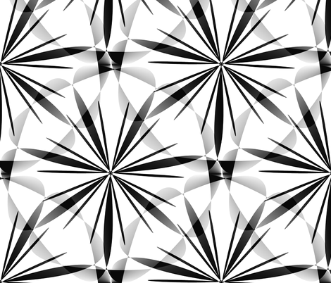 Twinkles - Black and White - Large fabric by telden on Spoonflower - custom fabric