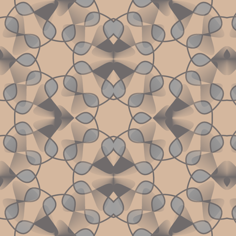 Leaf Fantasy - Honey and Gray fabric by telden on Spoonflower - custom fabric