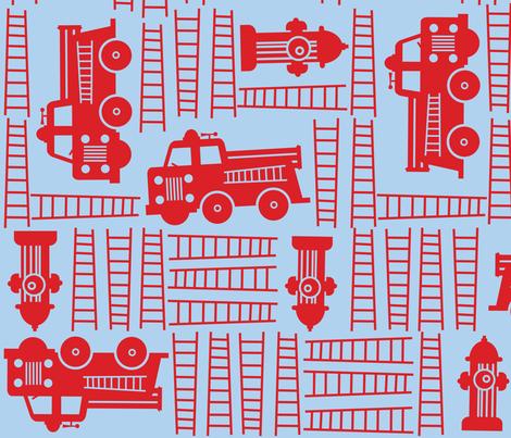 Fire Trucks fabric by edward_elementary on Spoonflower - custom fabric