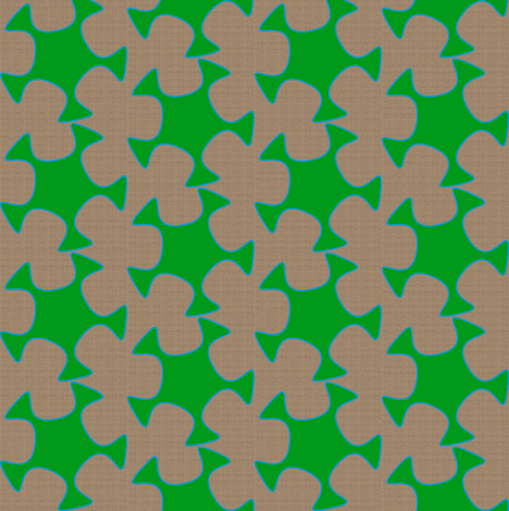 Abstract Cutout - Grass Green Tan fabric by telden on Spoonflower - custom fabric
