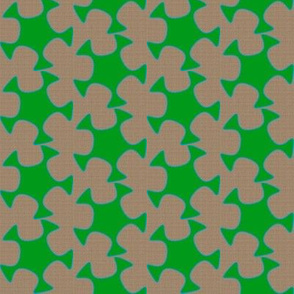Abstract Cutout - Grass Green Tan