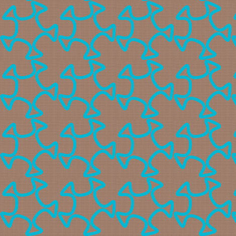 Abstract Cutout Trace - Light Turquoise fabric by telden on Spoonflower - custom fabric