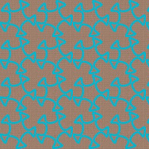 Abstract Cutout Trace - Light Turquoise