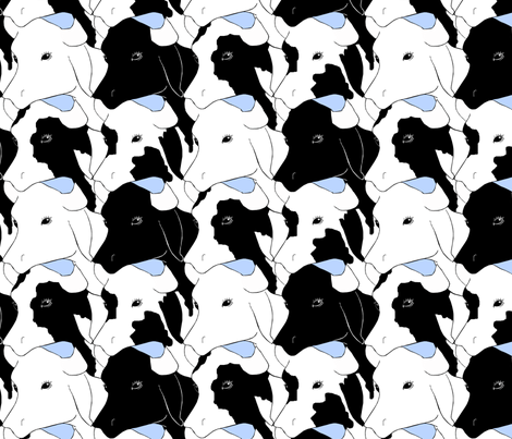 Cows fabric by pond_ripple on Spoonflower - custom fabric