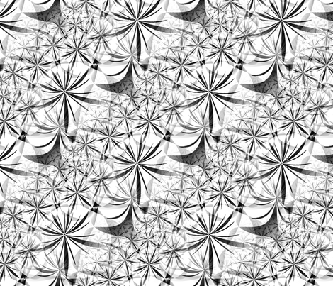 Geo Jungle - Grayscale fabric by telden on Spoonflower - custom fabric