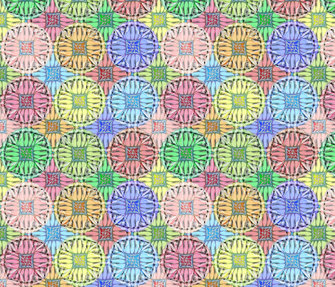 patchwork scallops fabric by glimmericks on Spoonflower - custom fabric