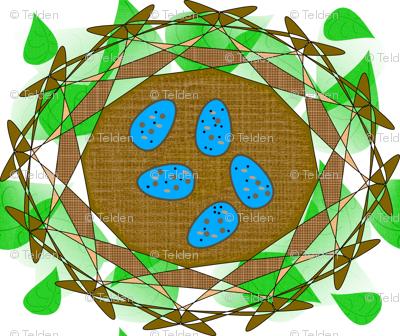 Robin's Nest Eggs - Green - Large