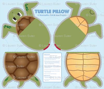 Turtle Pillow - Cut & Sew